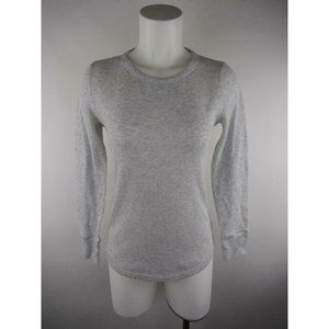 Gap Heather Waffle Knit Thermal Scoop T-Shirt Top
